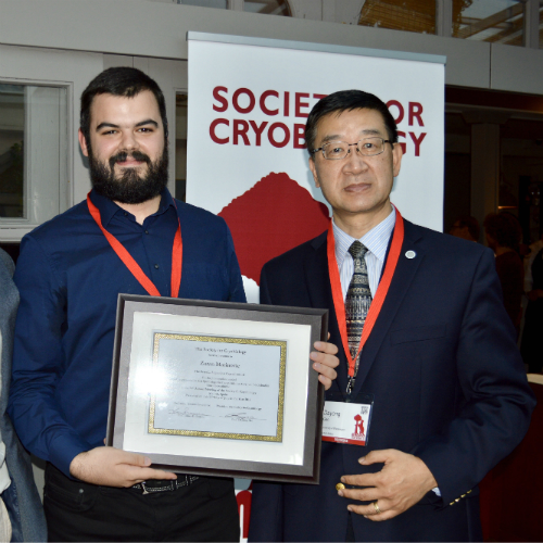 Zoran Marinovic pictured with Society President, Dayong Gao